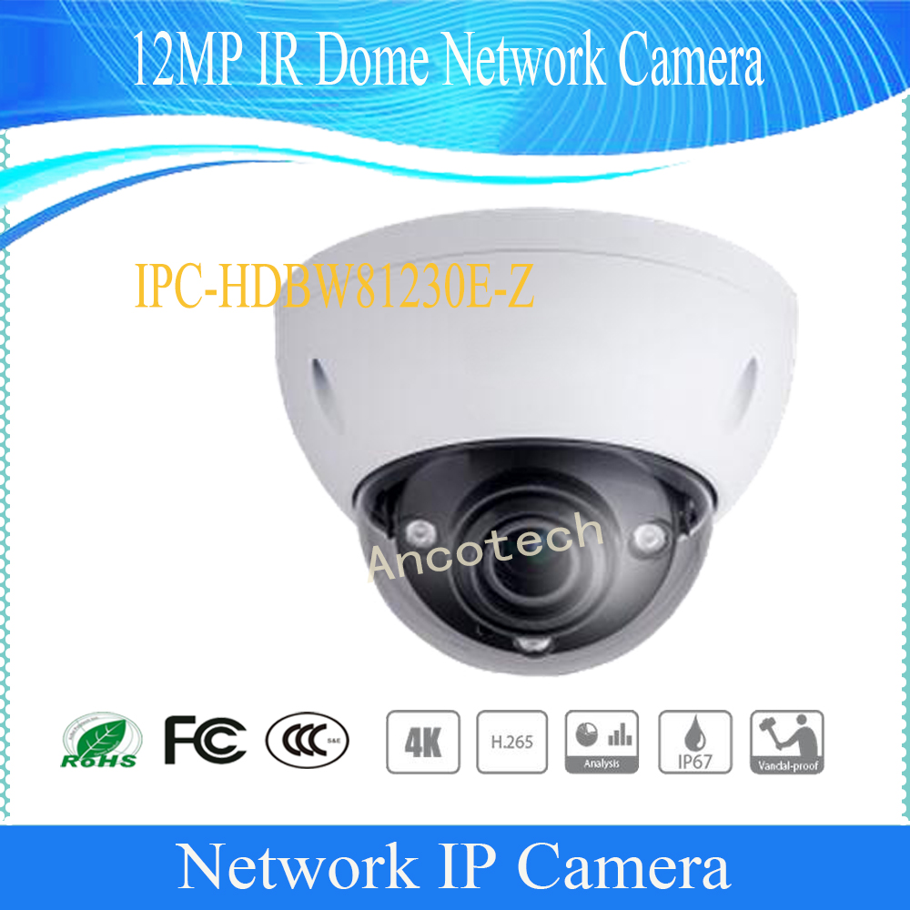 Free Shipping DAHUA IP Cmera CCTV 12MP FULL HD IR Dome Network Camera IP67 IK10 With POE without Logo IPC-HDBW81230E-Z наушники crown cmera 700 cmera 700