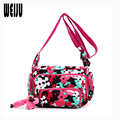 WEIJU Women Print Shoulder Bag 2016 New Oxford Women Messenger Bags Multi-Pocket Multi-Layer Womens Mummy Bag Ladies