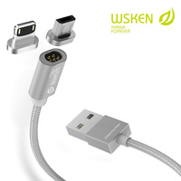 WSKEN Mini 1 Magnetic Cable Micro USB Cable for SAMSUNG HUAWEI 1M Mobile Phone Cables For iphone Magnetic Charger Cable USB