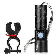ISHOWTIENDA Usb Перезаряжаемый светильник, передний руль, профессиональный USB флэш-светильник светодиодный для велосипеда, водонепроницаемый+ держатель, аксессуары для велосипеда