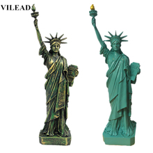 VILEAD 12'' Statue of Liberty Nature Sand Stone America Liberty Figurines Miniatures Statuettes Vintage Home Decor Souvenirs liberty home диван chineo