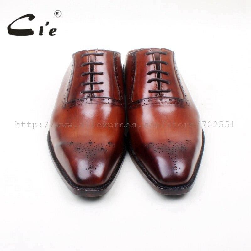 Dos Cie Ox692 Sapato Ternos Grátis Frete Try on Couro Sola Personalizado Oxford Homens Bespoke Chinelos Captoe Handmade Respirável Lacing 0SSprqUxw