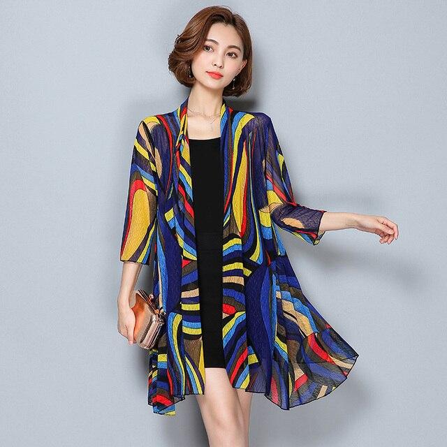 TingYiLi Summer Cardigan Women Beach Cardigan Long Kimono Cardigan 3