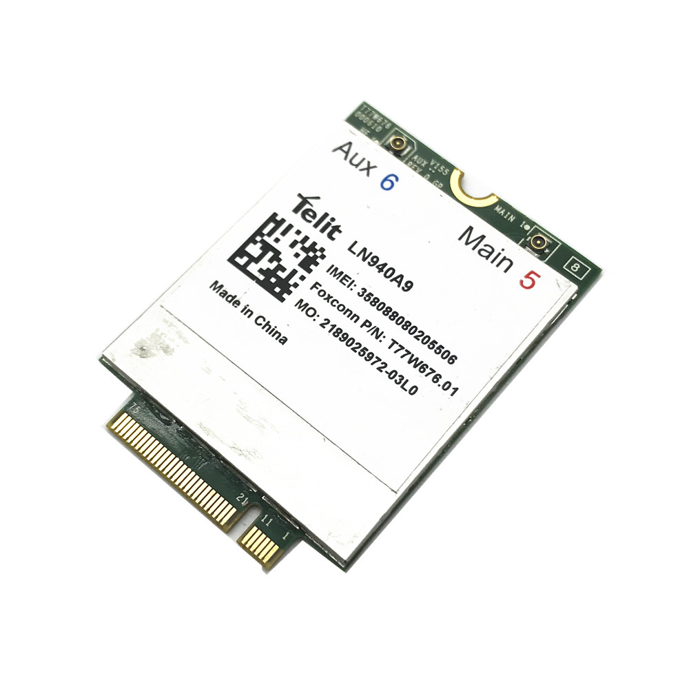 For Telit LN940 LN940A9 T77W676 LTE Cat 9 M.2/NGFF Data 450Mbps 4G WWAN LTE Modem Card