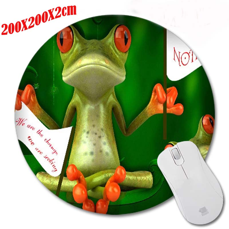 Anti-slip Table Mats Cute The Frog Cartoon Anime PC Round Soft for Speed Me pad Mat gamer Mousepads for Optal/Trackball Mouse