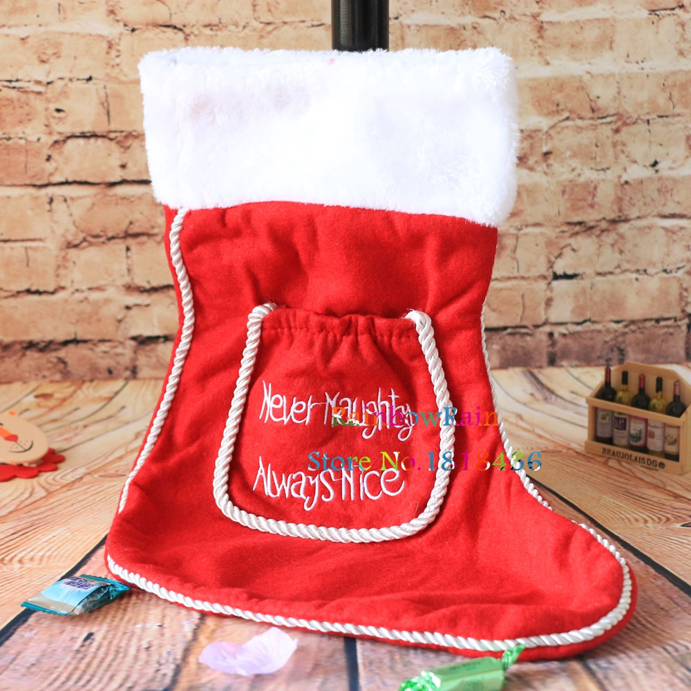 Large Size Santa Sacks Christmas Stockings For Candy Gifts Nerver ...