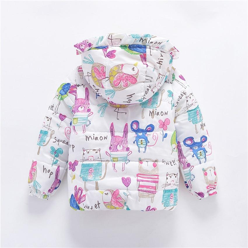 65d52d6dbf63 Belababy Baby Girls Coat Jacket Cotton Hooded Graffiti Boys Jacket ...