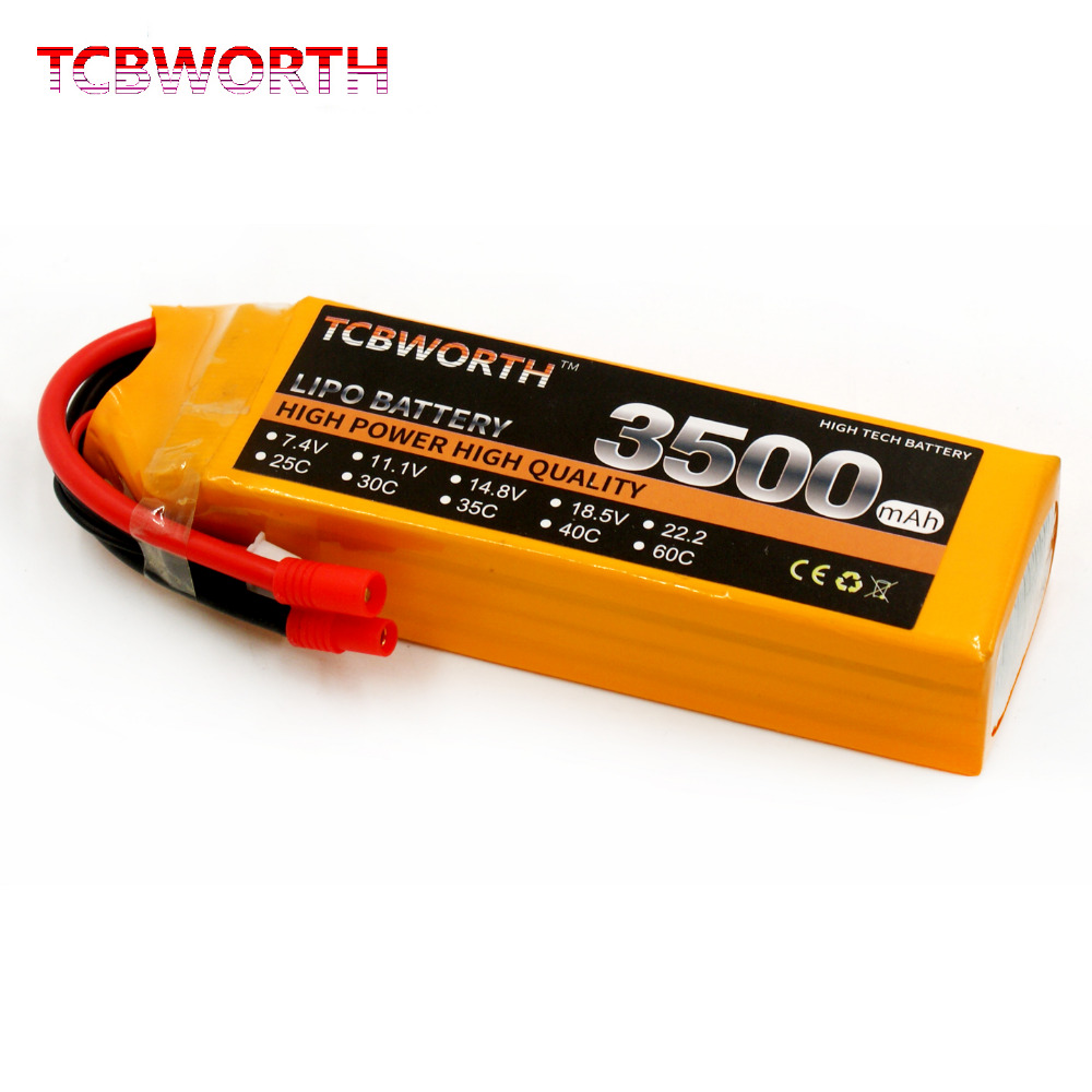RC 3S LiPo battery 3S 11.1V 3500mAh 60C For RC Airplane Quadrotor Helicopter Drone 3s lithium polymer Batteries AKKU tcbworth rc drone lipo battery 11 1v 2200mah 30c max 60c 3s for rc airplane helicopter car boat akku 3s batteria