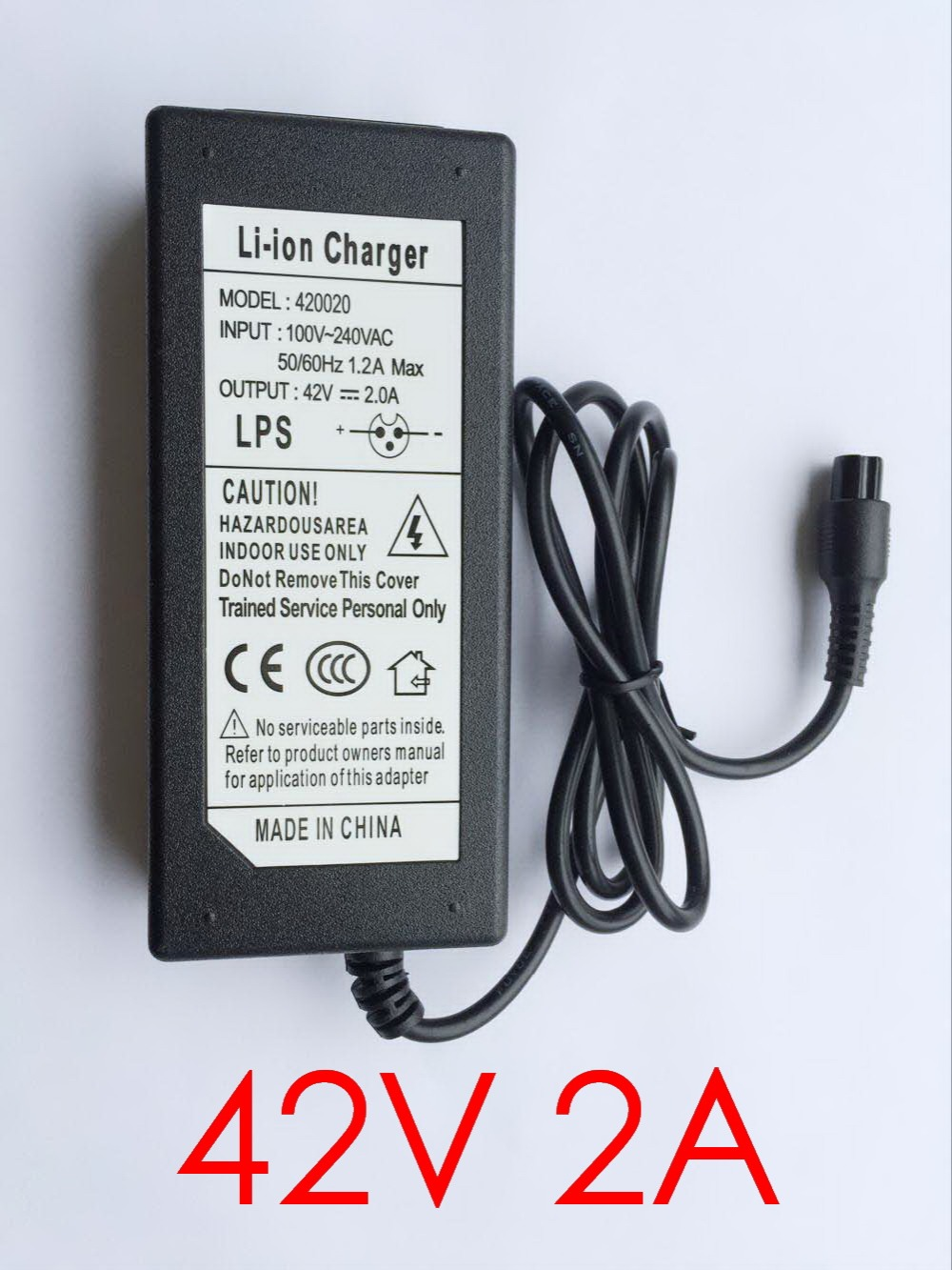 42V 2A Lipo Battery Charger Scooter Balance Charger For Electric Scooter Self Balancing Scooter 84W Charge Smart Protection