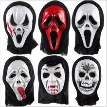 vestido de fiesta de disfraces de halloween mscara de ltex de terror skull ghost scream scary mscara cara de la campana para adultos divertidos estilos