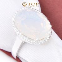 New 2014 Egg White Round Moon Stone Rings For Women Party And Wedding Jewelry 925 Sterling