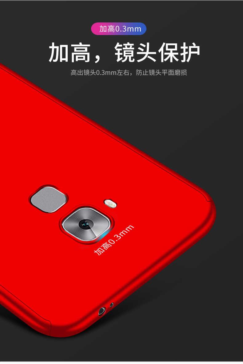 360 Полное покрытие Защитный чехол КРЫШКА ДЛЯ Huawei maimang 4 Чехол для Телефона Жесткий ПК с Стекло для Huawei G8 G7 Plus чехол