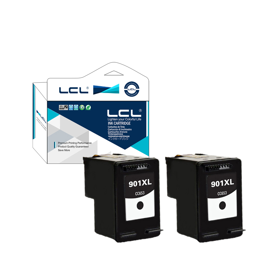 LCL 901XL CC654AE 901 XL 654AE 654 (2-Pack Schwarz) tintenpatrone kompatibel für...