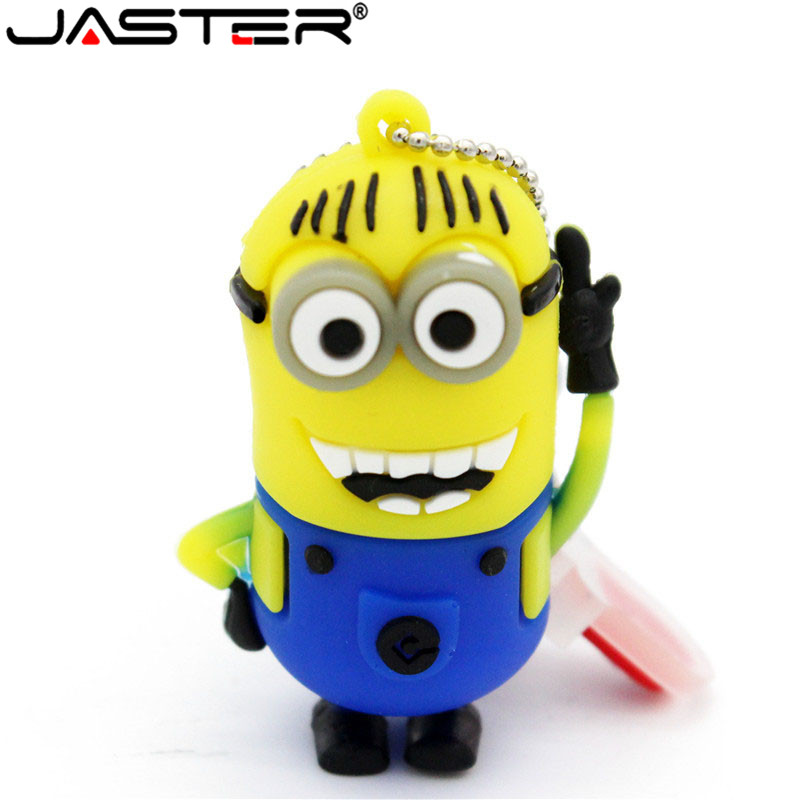 JASTER Espicable Me 2 Minions USB Flash Drive Pen Drive Gift Cartoon Pendrive USB 2.0 4GB/8GB/16GB Flash Memory Stick Gifts
