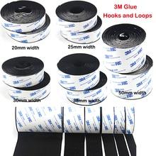 купить 1M Strong Self adhesive Hooks and Loops Fastener Tape nylon sticker velcros adhesive with 3M Glue Magic for DIY 20/25/30/38/50mm по цене 113.52 рублей