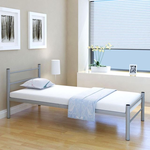 Ikayaa Moderne Meubles Lits Simples Lit Cadre Pour Maison D Hotes
