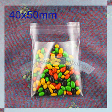 small bag 40x50mm plastic clear cookie bags, for candy, gift bags(China (Mainland))