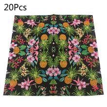 Disposable Paper Napkins Tableware Supply Printed Square Tissue pineapple Fruit Party Pattern Festive Celebration