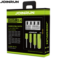 Joinrun S4 18650 Charger White LCD Screen Smart Battery Charger Li Ion 18650 14500 16340 26650