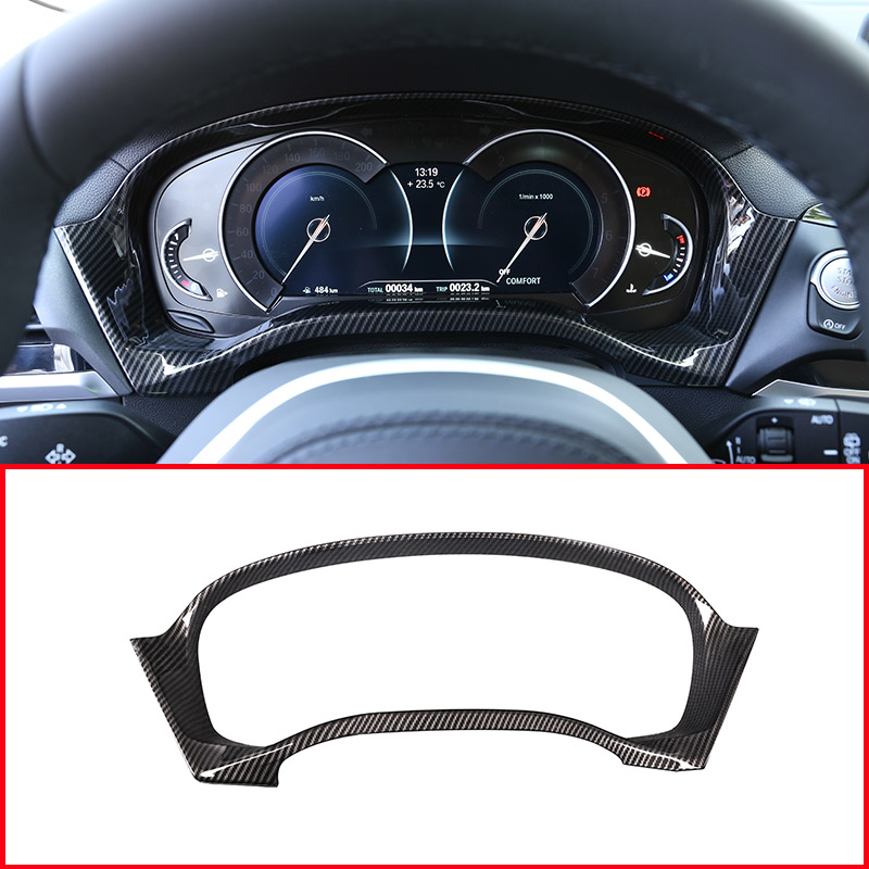Newest <font><b>Carbon</b></font> Fiber Style ABS Interior Dashboard Speed Decoration Frame <font><b>Trim</b></font> For <font><b>BMW</b></font> <font><b>X3</b></font> <font><b>G01</b></font> X4 G02 2018 2019 Accessories image