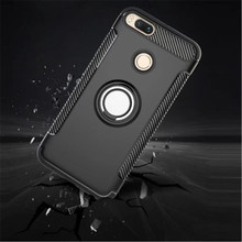 Купить с кэшбэком Anti-knock Soft Silicone PC Back Cover Cases For Xiaomi Mi 5X A1 Mobile Phone Case With Ring Bracket