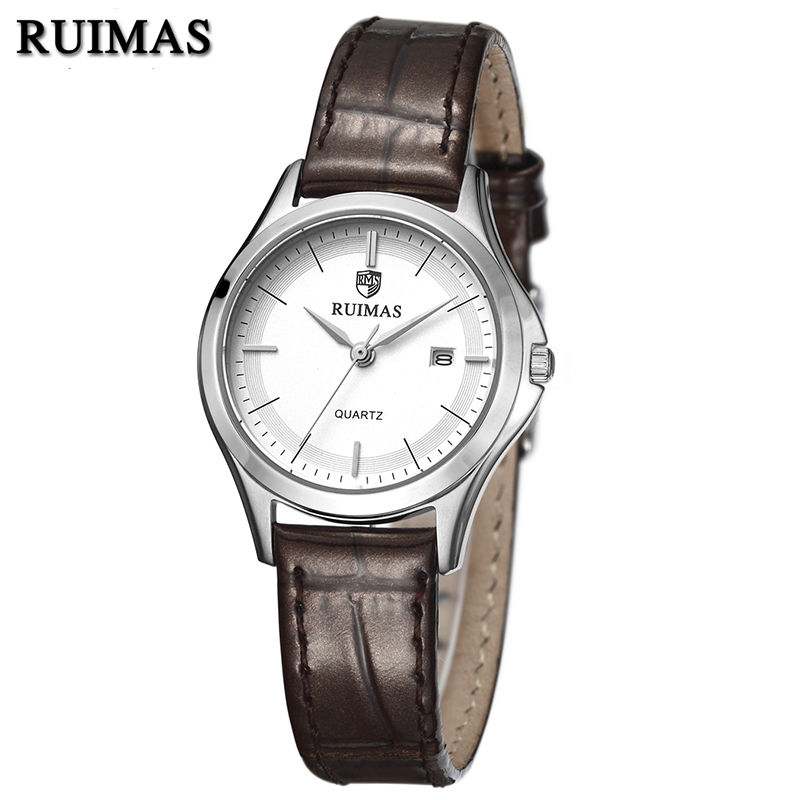 RUIMAS Original Fashion Women Watches Top Brand Luxury Ladies Quartz Watch Clock Leather Strap Relogio Feminino Montre Femme  ruimas original ladies watch top brand luxury quartz women watches reloj mujer montre femme for female relogio feminino