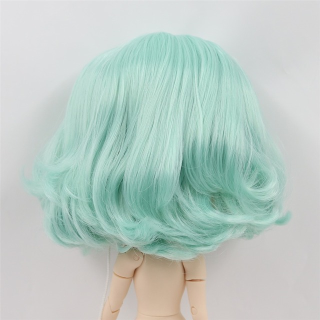 Neo Blythe Doll Scalp Dome Wavy Hair Wigs