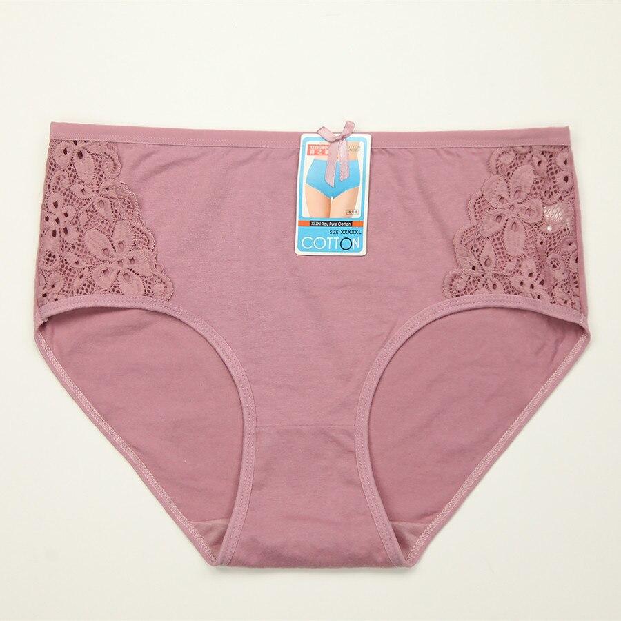 4 шт./лот женщины трусы хлопок   трусики кружевные трусики underwear ladies трусы большой размер xxxl 4xl 5xl