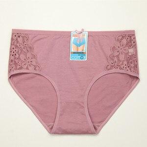 Image 4 - 4 יח\חבילה נשים תחתוני כותנה סקסי תחתונים תחרה תחתוני נשות גודל גדול XXXL 4XL 5XL