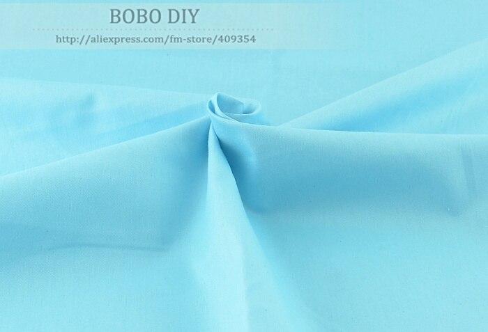 1 metro 100% Tela de Algodón 160 cm x 100 cm Color Sólido Noble Azul para ropa d