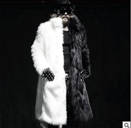S/5xl мужские зимние длинные пальто лиса Мех животных ручной работы норки Мех животных Куртки Повседневное более Пальто для будущих мам мужск...