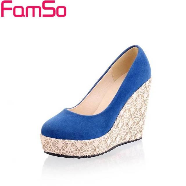 Envío gratis 2017 Nuevo de Las Mujeres de Las Cuñas de Zapatos de Las Plataformas Tacones Altos zapatos de Diseño Casual Para Señora Del Verano bombea Los Zapatos PS420