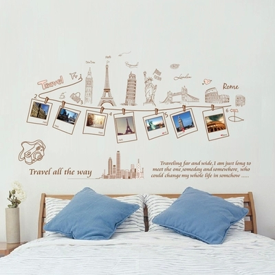 Charmant Travel Packages Mailed To Remove Wall Stickers Photo Photo Collage  Wallpaper Background Of The Sitting Room