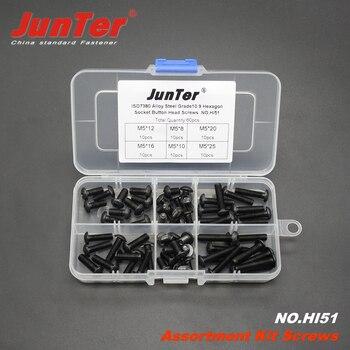60 stücke M5 (5mm) Stahl Grade10.9 Hochfesten Buchse Kopfschrauben ISO7380 Sortiment Kit KEIN. HI51