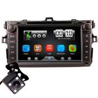 2Din автомобиль в тире dvd плеер радио Bluetooth головное устройство стереосистемы с обратной камерой для Toyota COROLLA 07 11 (без gps)