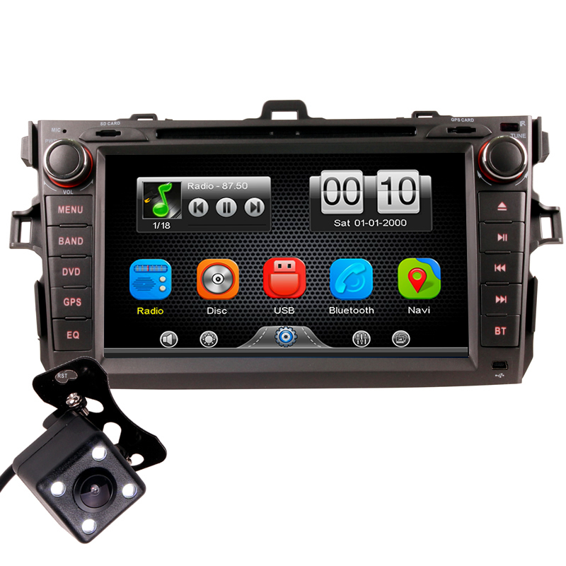 2Din Car In Dash DVD Player Radio Bluetooth Head Unit Stereos with Reverse Camera for Toyota COROLLA 07-11 (Without GPS) george shaw general zoology or systematic natural history vol 5 part 1 pisces