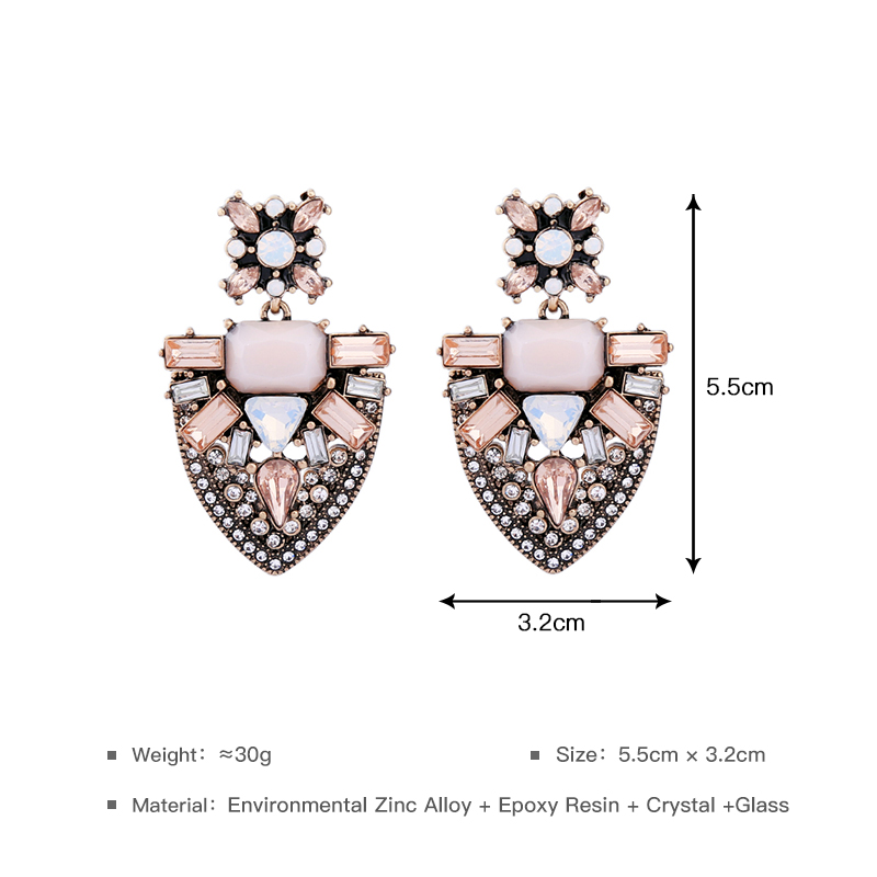 wing yuk tak Latest Style Hot Sale Elegant Plant Crystal Leaves Fashion Alloy Earrings For Women Jewelry Wholesale