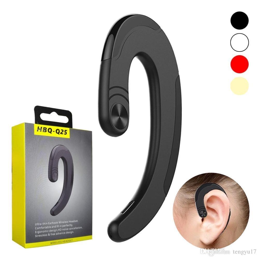 20pcs HBQ-Q25 Cordless (NOT Bone Conduction) Headphones Wireless Bluetooth Earphones Waterproof Bluetooth Earbuds Sports Headset Наушники