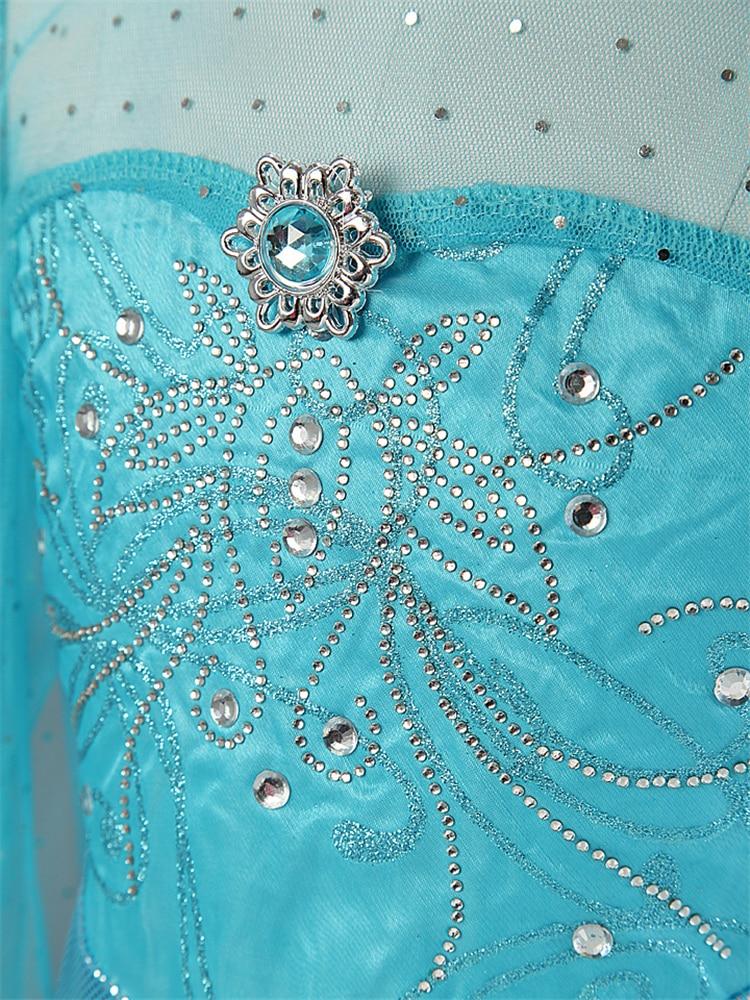 HTB1FHNhXwFY.1VjSZFqq6ydbXXaS Cosplay Queen Elsa Dresses Elsa Elza Costumes Princess Anna Dress for Girls Party Vestidos Fantasia Kids Girls Clothing Elsa Set