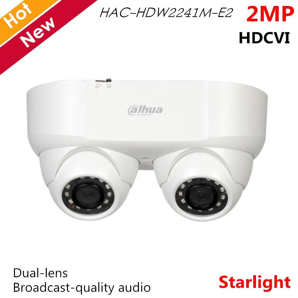 Dahua 2MP Starlight HDCVI Camera IR Dual lens Broadcast quality audio Smart IR 30m HAC HDW2241M E2 Waterproof IP67 CCTV system|Surveillance Cameras| |  - title=