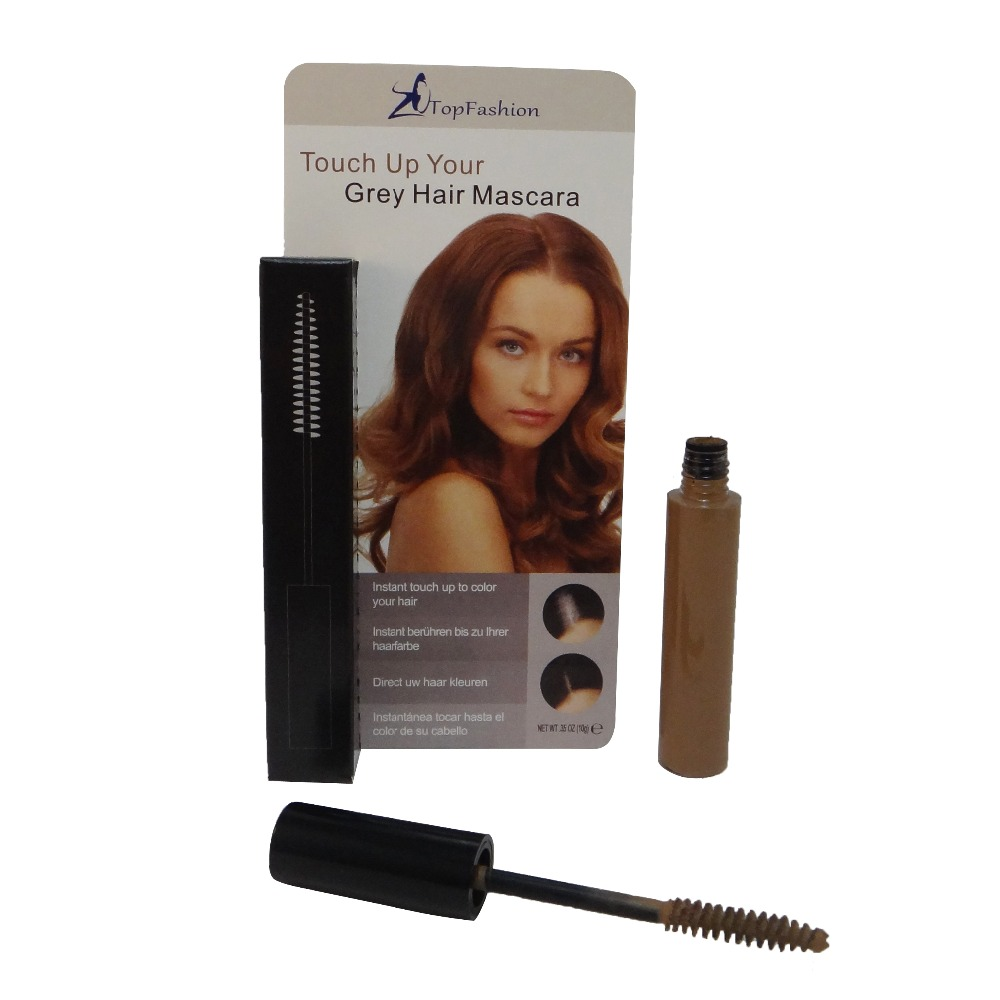 Light Brown Color Makeup Temporary Cover Grey Brush 85 Ml