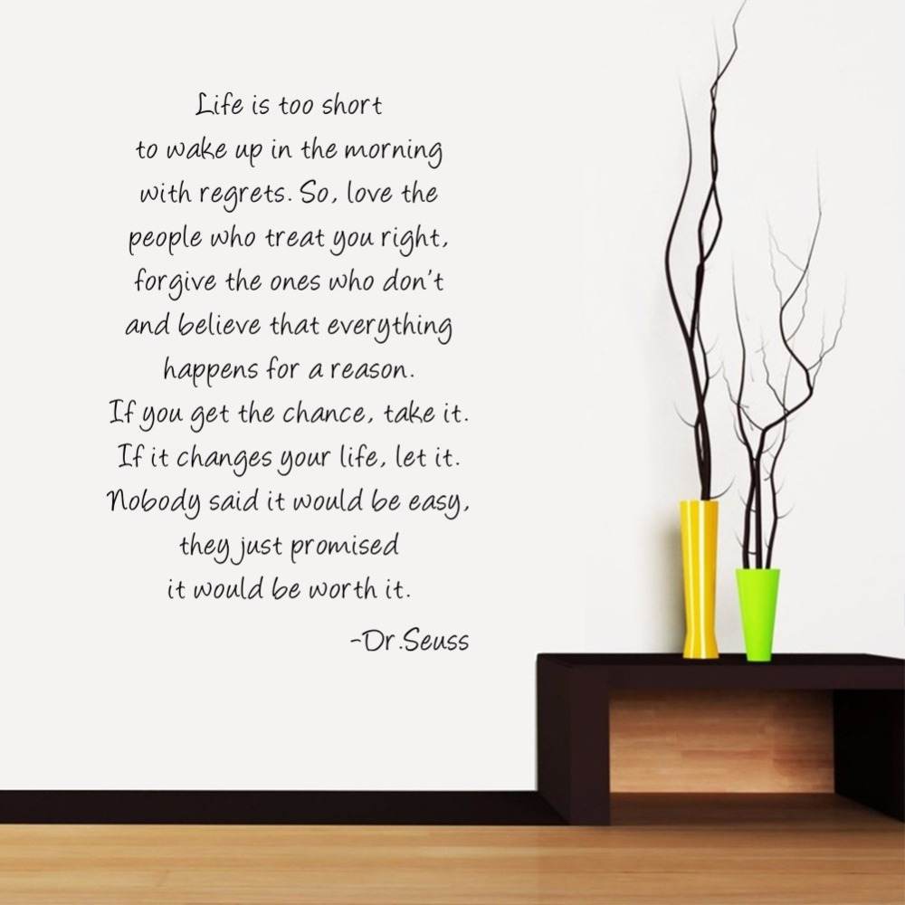 Life is too short limited living room inspirational english sayings life is too short limited living room inspirational english sayings wall stickers letter art home decor removable decals murals in wall stickers from home gumiabroncs Choice Image