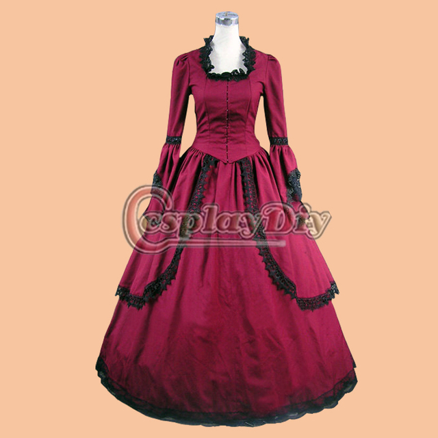 Custom Made Women\'s Dress Cosplay Free Shipping Southern Belle Red ...