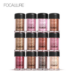 FOCALLURE Hot Eye Glitter 12 Colors Sha dow Cosmetics Diamond Loose Beauty Makeup Pigment Powder For Eyes Color Shimmer Makeup