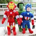 Новый Горячий 30-60 см Мстители Куклы человек-Паук/Iron Man/тор/Халк/Капитан Америка Плюшевые Игрушки Для Детей Рождество подарки