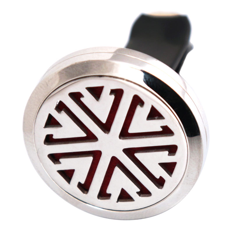 Amya Jewelry New Style 30mm Diffuser 316 Stainless Steel Car Aroma Locket Essential Oil Car Diffuser Locket Free 10Pcs Felt Pads