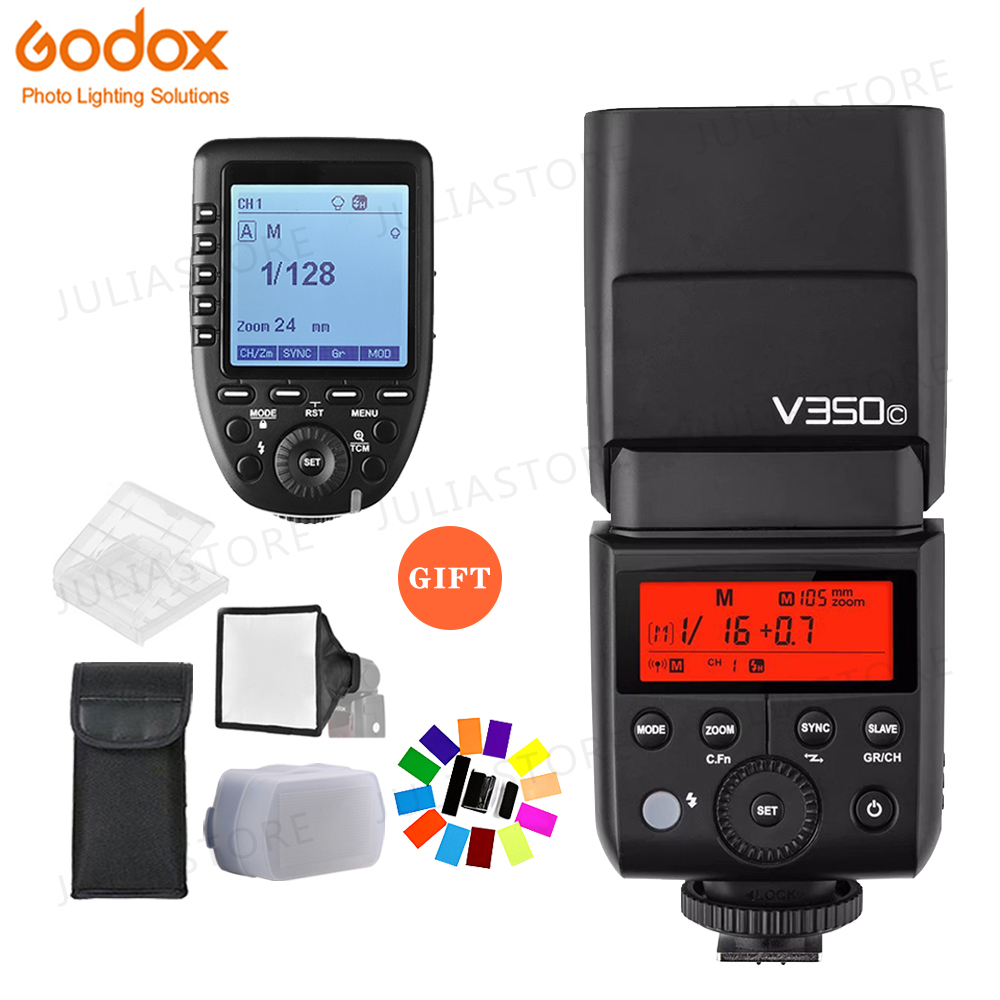 Godox V350C TTL HSS 1/8000s GN36 0.1~1.7s recycle Camera Speedlite Flash Built-in Lithium Battery with Xpro-C Trigger for CanonGodox V350C TTL HSS 1/8000s GN36 0.1~1.7s recycle Camera Speedlite Flash Built-in Lithium Battery with Xpro-C Trigger for Canon
