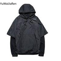 YuWaiJiaRen Autumn Winter Hooded Funny Solid Colors Hoodies Harajuku Fitness Streetwear Hip Hop Tracksuits Pullover Sweatshirts