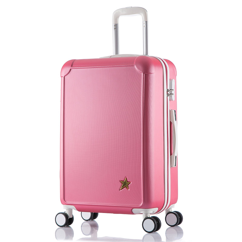 2024 inches Combination lock trolley case ABS students women Travel Frosted luggage rolling suitcase men business Boarding box maidenform трусы maidenform модель 2902774