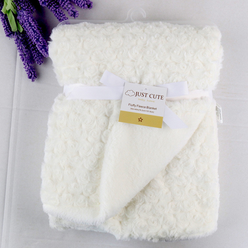Baby Blanket Newborn Thermal Warm Soft Rose Fleece Blankets & Swaddling Bedding Set Photography Infant Boy and Girl Wrap Swaddle flannel newborn baby swaddles blanket autumn organic color cotton boy girl infant wrap winter blankets swaddling soft bedding